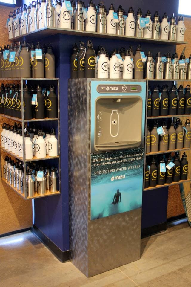 Fit Circle Custom made Mizu water cooler and shelves