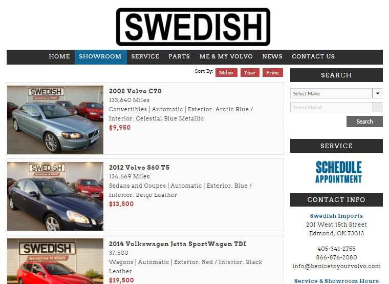 Swedish-Imports-website-by-hive-design-team-showroom