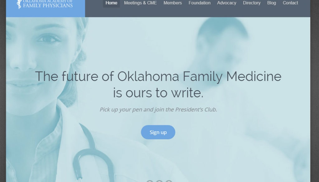 Oklahoma Academy of Family Physicians website update
