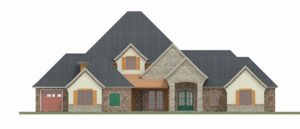 Jay Holman Design - Render Front Elevation