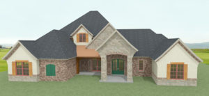 Jay Holman Drafting - Render Front Elevation Angle