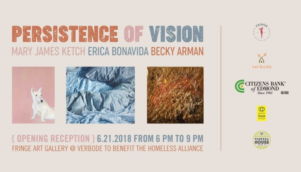 Fringe Women Artist of Oklahoma Persistence of vision event card FRinge ARt