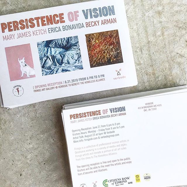 Fringe Women Artist of Oklahoma Persistence of vision event card 2