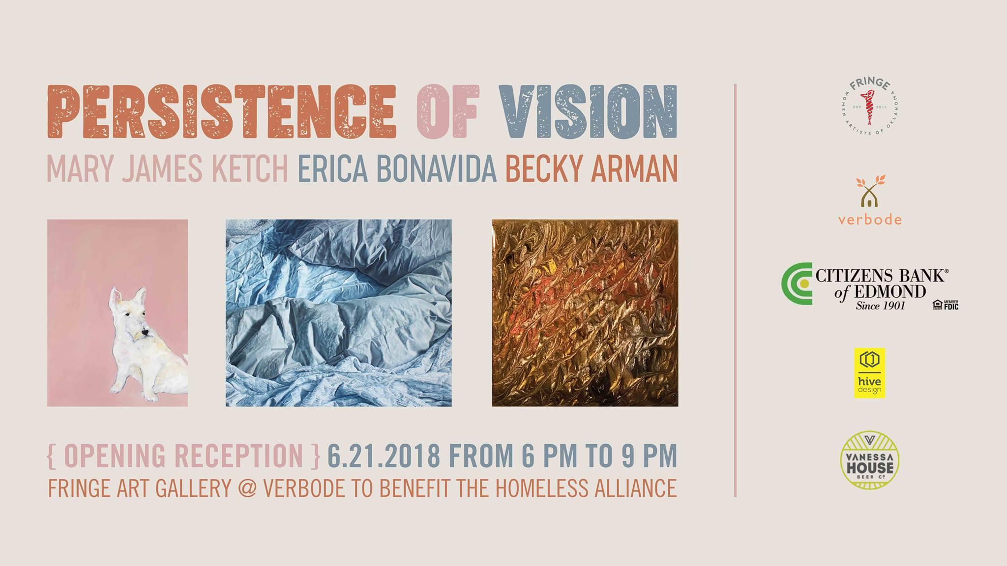 Fringe Women Artist of Oklahoma Persistence of vision event card FRinge ARt