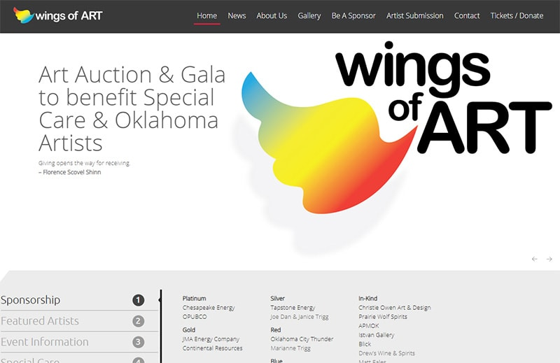 wings of art - website home page