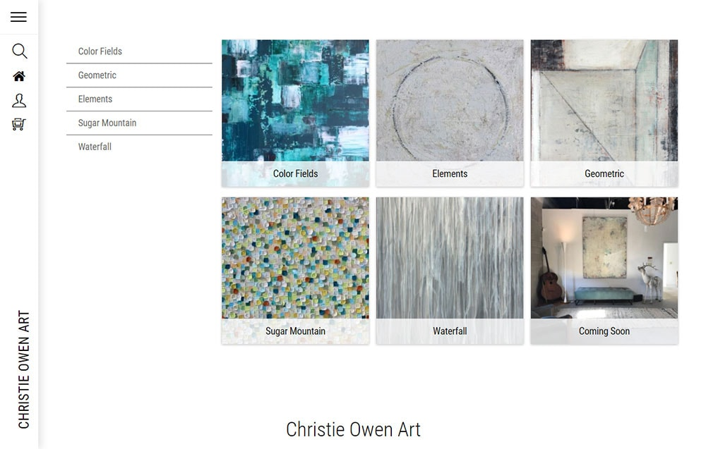 christie owen - artist - website- series page