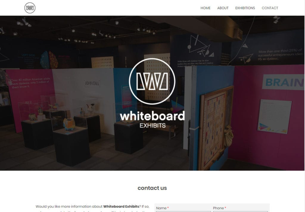 Whiteboard_exhibits_contact_page