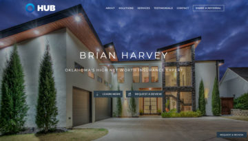 Brian Harvey Insurance Agent website home page by Hive Design Team